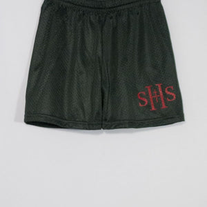 SHS GIRLS TRICOT MESH SHORT WITH SILKSCREENED LOGO