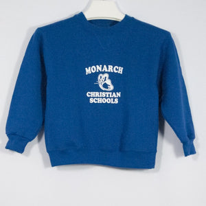 MONARCH CHRISTIAN SCHOOL TODDLER 7.5 Oz FLEECE SWEATSHIRT WITH SILKSCREENED LOGO - Appletree Uniforms
