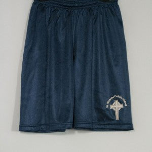 ST. NICHOLAS MINI MESH SHORT WITH SILKSCREENED LOGO - Appletree Uniforms