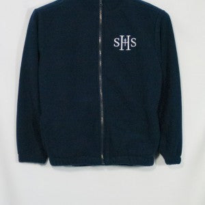 SACRED HEART SCHOOLS FULL ZIP FABRI-TECH FLEECE WITH EMBROIDERED LOGO (NAVY)
