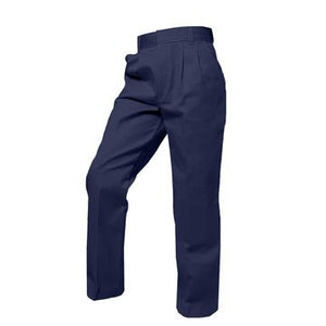 BOYS NAVY TWILL PLEATED FRONT ELASTIC BACK PANT - Appletree Uniforms