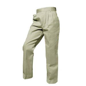 BOYS KHAKI TWILL PLEATED FRONT ELASTIC BACK PANT - Appletree Uniforms
