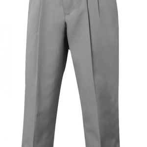 GIRLS LIGHT GRAY ADJUSTABLE WAIST PLEATED PANT