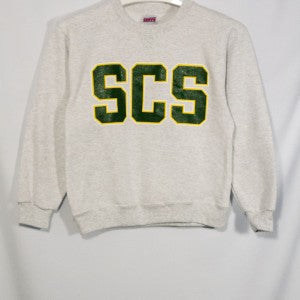 SUNNYVALE CHRISTIAN SCHOOL HEAVYWEIGHT CREW SWEATSHIRT WITH SILKSCREENED LOGO