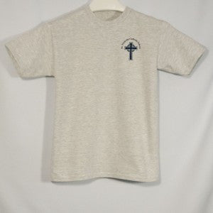 ST. NICHOLAS UNISEX SHORT SLEEVE T-SHIRT WITH SILKSCREENED LOGO - Appletree Uniforms