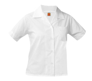 GIRLS WHITE POINTED COLLAR BLOUSE - Appletree Uniforms