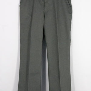 BOYS HUSKY DARK GRAY RELAXED FIT PLAIN FRONT ADJUSTABLE WAIST PANT