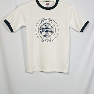 CANTERBURY CHRISTIAN SCHOOL UNISEX SHORT SLEEVE T-SHIRT WITH SILKSCREENED LOGO - Appletree Uniforms