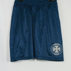 CANTERBURY CHRISTIAN SCHOOL MINI MESH SHORTS WITH SILKSCREENED LOGO