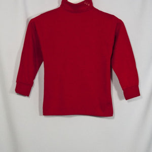 BOYS RED JERSEY KNIT TURTLENECK WITH EMBROIDERED LOGO - Appletree Uniforms