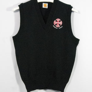 CANTERBURY CHRISTIAN SCHOOL NAVY CLASSIC V-NECK PULLOVER VEST WITH EMBROIDERED LOGO - Appletree Uniforms