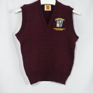 CANYON HEIGHTS CLASSIC V-NECK PULLOVER VEST WITH EMBROIDERED LOGO - Appletree Uniforms
