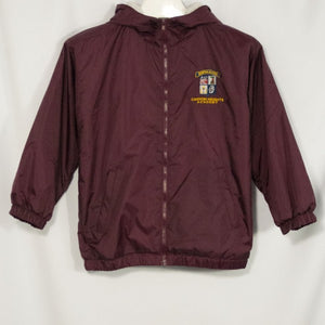 CANYON HEIGHTS SCHOOL BAY WATCH LINED NYLON HOODED JACKET WITH EMBROIDERED LOGO - Appletree Uniforms