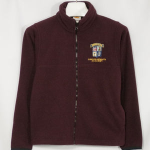 CANYON HEIGHTS SCHOOL FULL ZIP FABRI-TEC FLEECE WITH EMBROIDERED LOGO - Appletree Uniforms