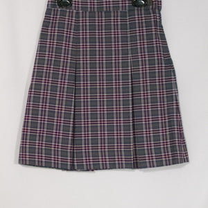 CATHOLIC ACADEMY 2-KICK PLEAT SKIRT FRONT & BACK
