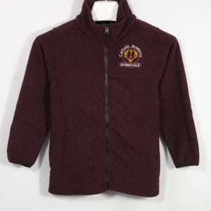 CATHOLIC ACADEMY FULL ZIP FABRI-TEC FLEECE WITH EMBROIDERED LOGO