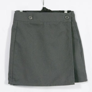 DARK GRAY SKORT- SIDE POCKET WITH ADJUSTABLE WAIST