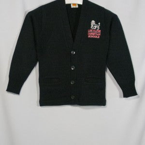 LACS CLASSIC V-NECK CARDIGAN WITH EMBROIDERED LOGO - Appletree Uniforms