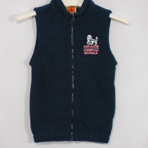 LACS FULL ZIP FLEECE VEST WITH EMBROIDERED LOGO - Appletree Uniforms