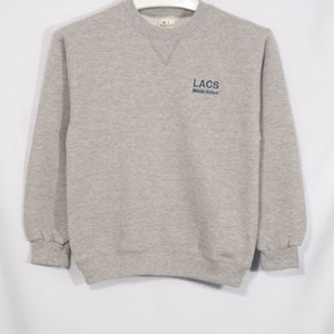 LACS HEAVYWEIGHT CREW SWEATSHIRT WITH EMBROIDERED LOGO - Appletree Uniforms