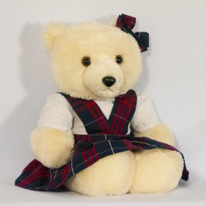 "18"" DOLL DROP WAIST JUMPER WITH BOW (BEAR NOT INCLUDED) - Appletree Uniforms"