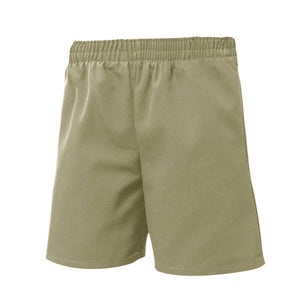 UNISEX KHAKI ALL AROUND ELASTIC SHORT - Appletree Uniforms