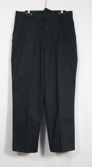 BOYS NAVY HUSKY RELAXED FIT PLAIN FRONT ADJUSTABLE WAIST PANT