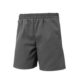 UNISEX DARK GRAY ALL AROUND ELASTIC SHORT - Appletree Uniforms