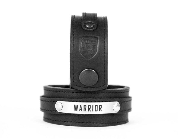 """WARRIOR"" Leather Cuff Bracelet"