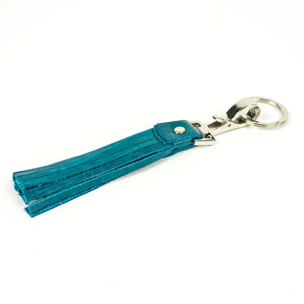 Tassel Key Fob in Ocean