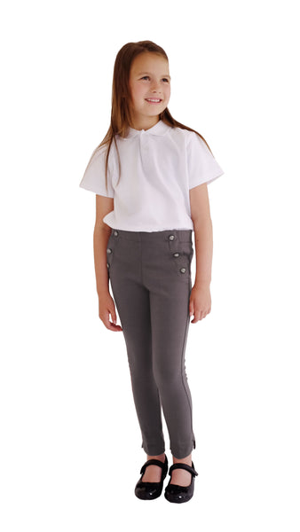 Grey Jersey Organic Cotton School Trousers
