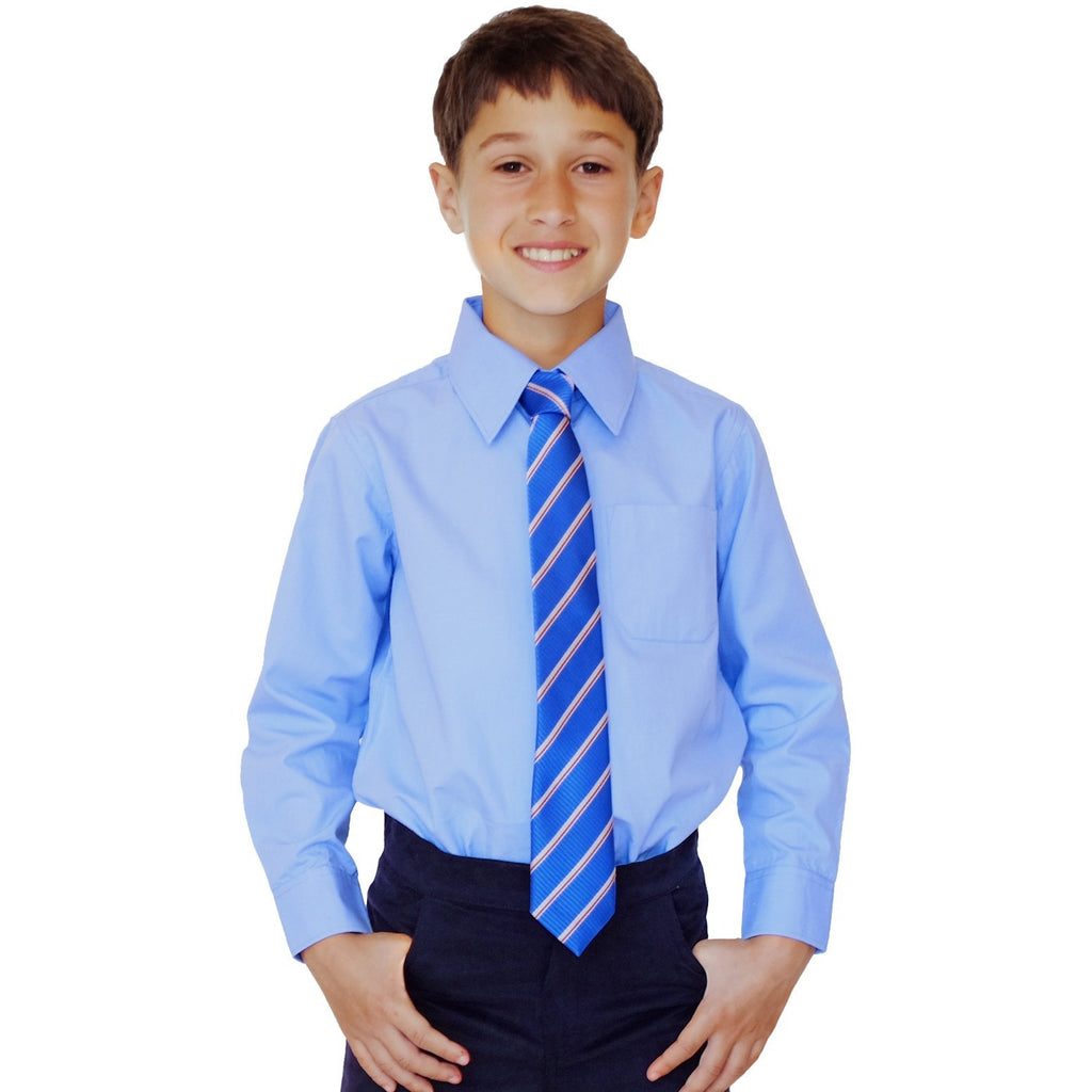 Long Sleeved Pure Organic Cotton School Shirt