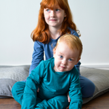 Baby and child wearing eczema pyjamas