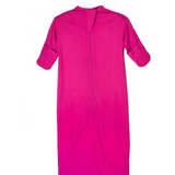 Pink bamboo eczema sleeping bag with mittens