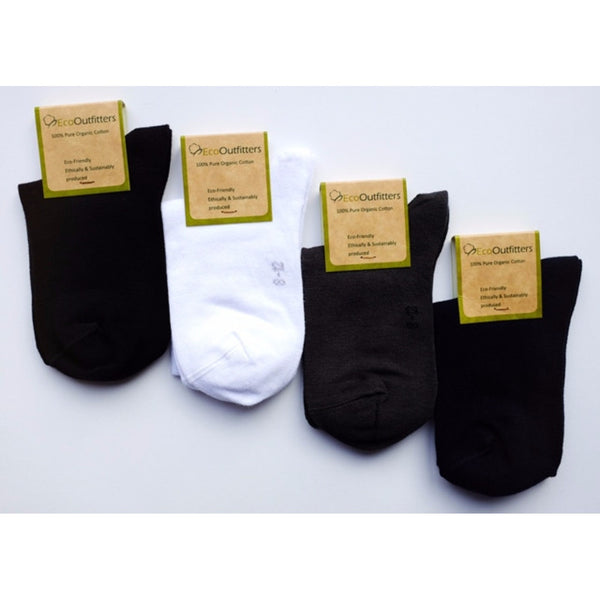 Organic Pure Cotton School Ankle Socks