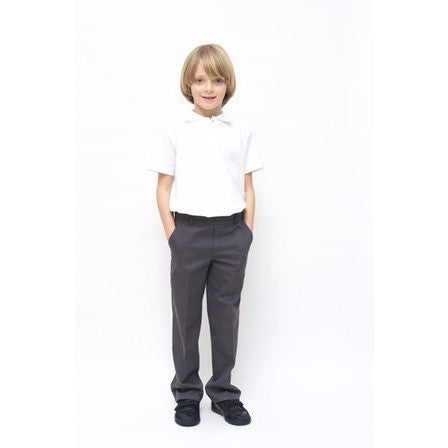 Boys Classic Fit Pure Cotton School Trousers