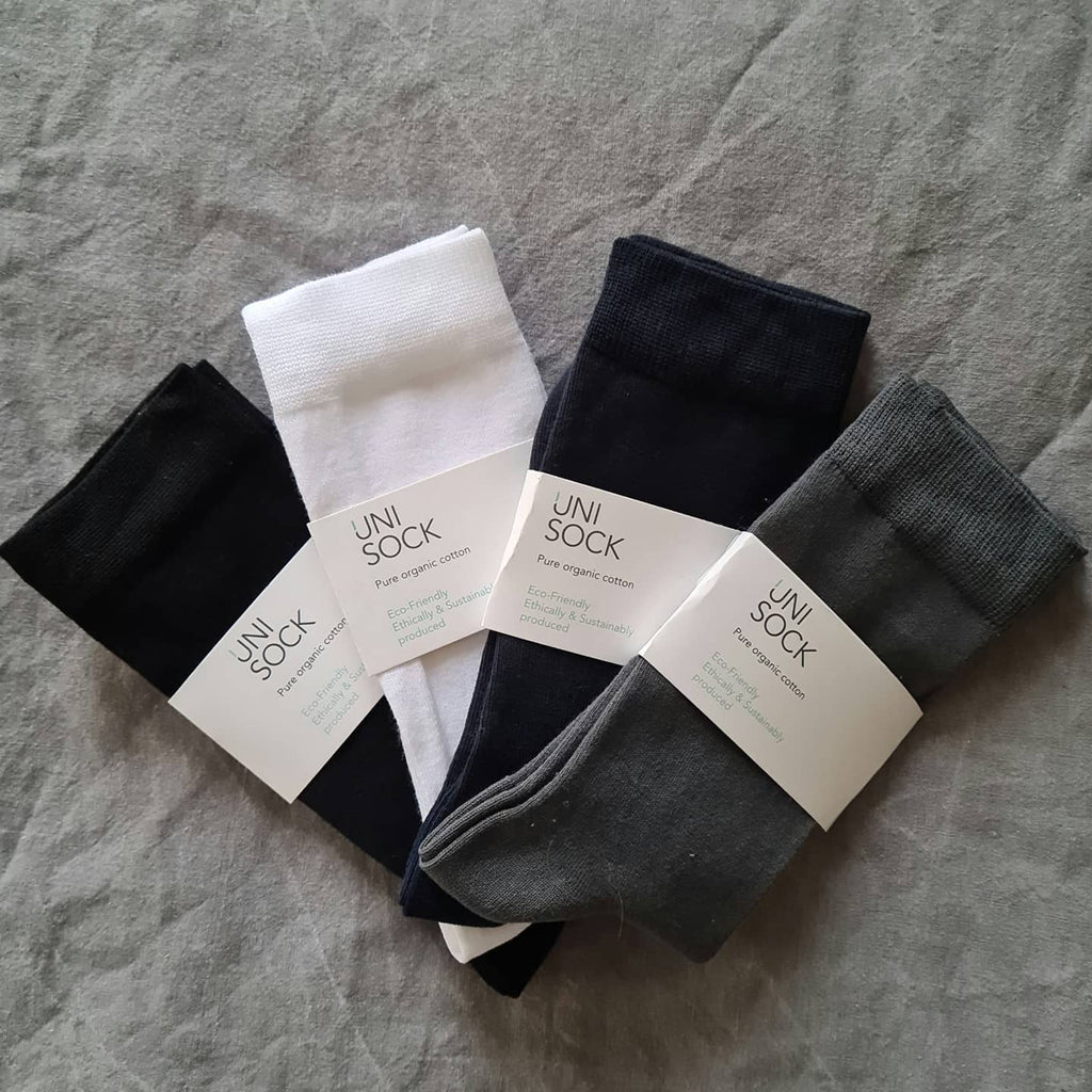 Organic Cotton Ankle Socks with Flat Seams