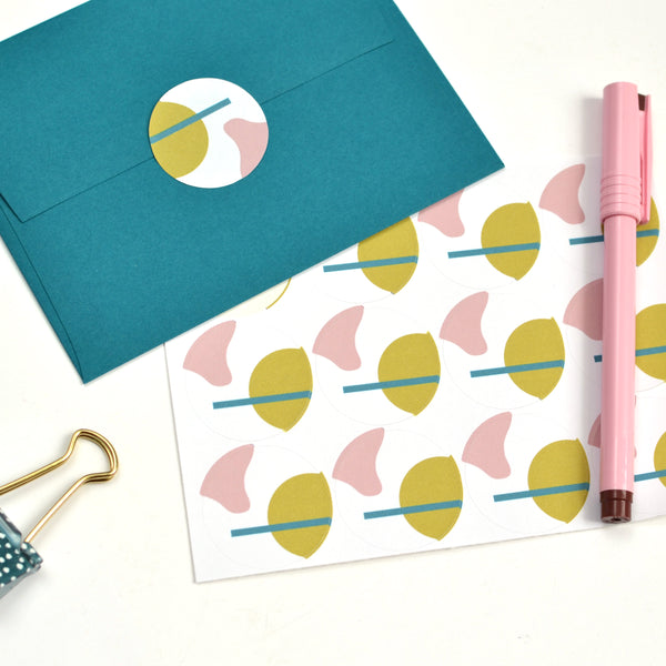 Abstract Shapes Stationery Set