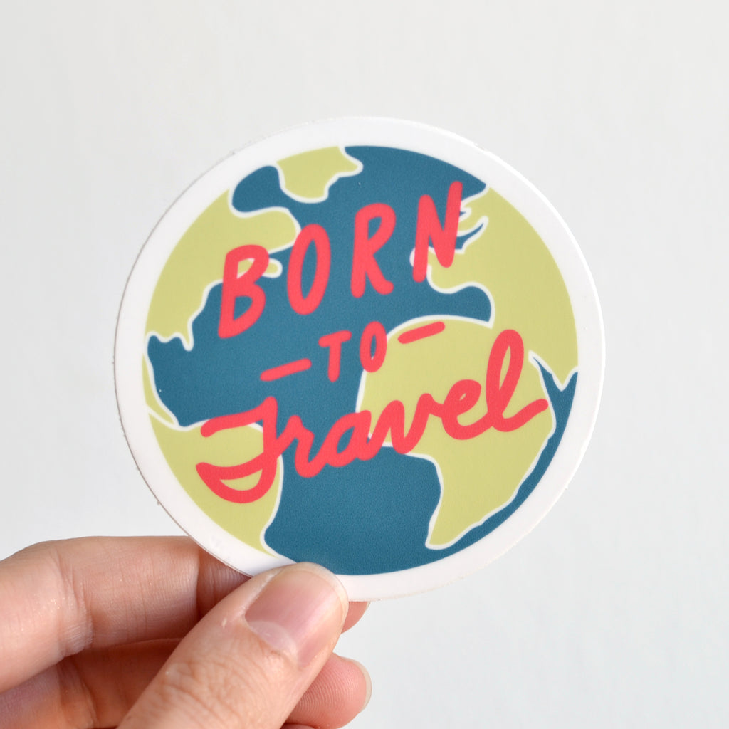 Born to Travel Sticker