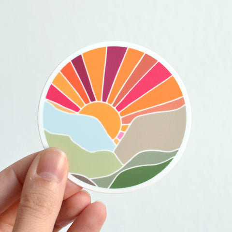 Mountain Sunset Sticker
