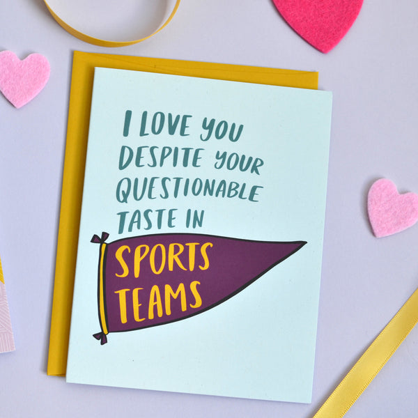 Questionable Sports Teams Card