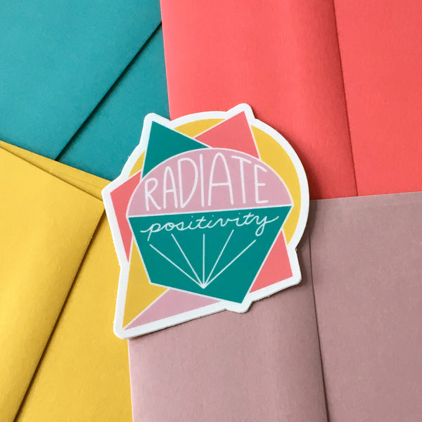 Radiate Positivity Sticker