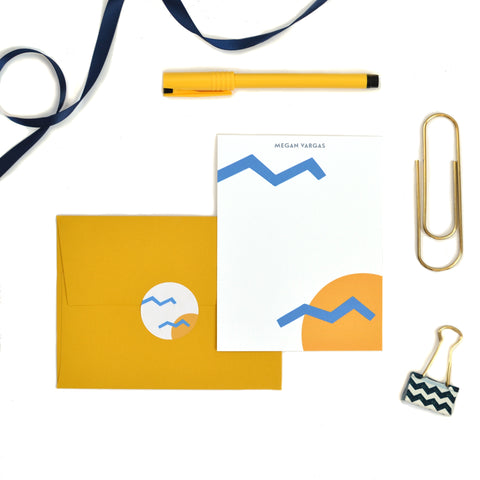 Zig Zag Stationery Set