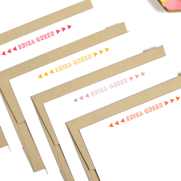 Modern Arrow Stationery Set