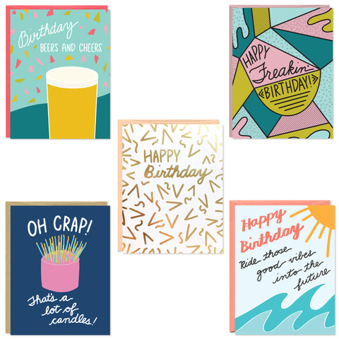 Birthday Card 5 Pack