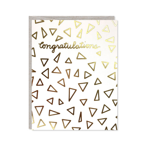 Gold Foil Congratulations Card