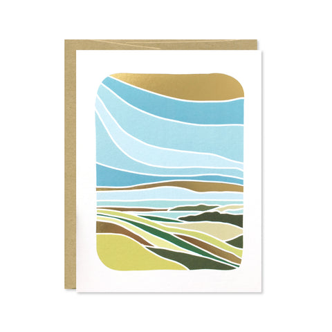 Coromandel Peninsula Gold Foil Card
