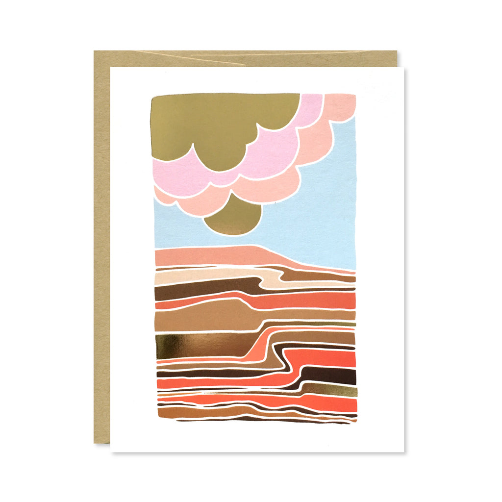 Desert Gold Foil Card