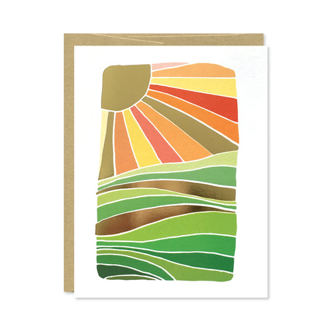 Prairie Gold Foil Card