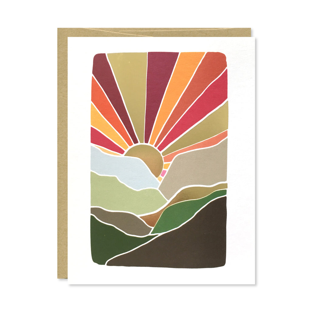 Mountains Gold Foil Card